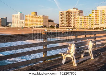 Virginia Beach Boardwalk from Pier