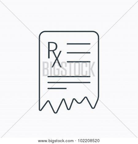 Medical prescription icon. Health document sign.