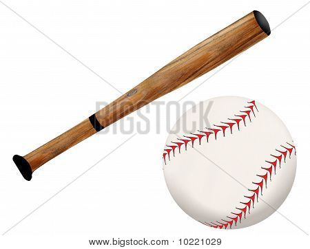 Baseballschläger und Ball