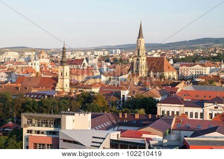 Aerial view of Cluj