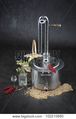 Home Distillation Of Alcohol, Homemade Alcohol To Drink, Stainless Steel