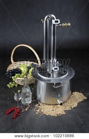 Home Brew Alcohol Moonshine Still Pot Distiller Column