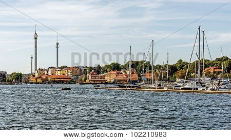 Distant view on Grona Lund