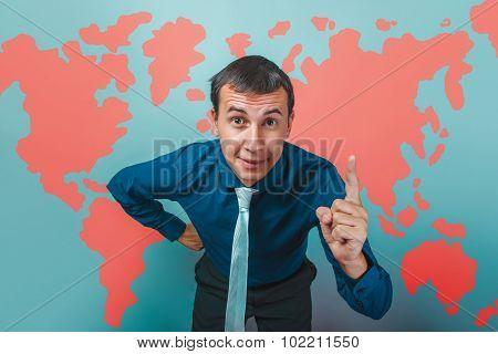 man male teacher raised the idea of Professor businessman thumbs
