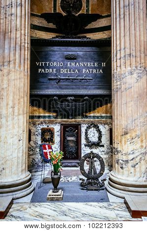 Rome, Italy - October 29: Tomb Of The Father Of The Italian Homeland, Vittorio Emmanuel