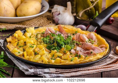 Frittata With Herbs And Ham