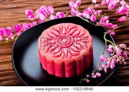 Chinese Sakura Moon Cake