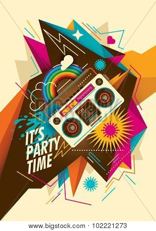Abstract party poster design. Vector illustration.