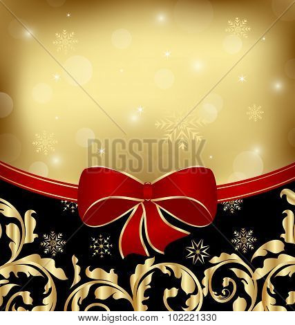 Christmas holiday ornamental decoration for design packing