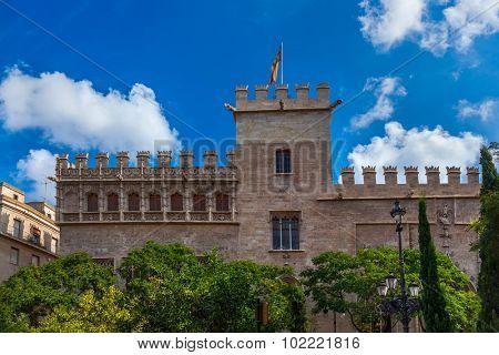 Retro architecture at Valencia Spain - travel background
