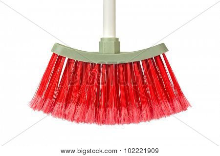 Plastic broom isolated on white background