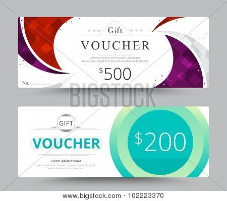 Gift Voucher Card Template Design. For Special Time, Coupon Template, Thank Giving, And Other Sale.