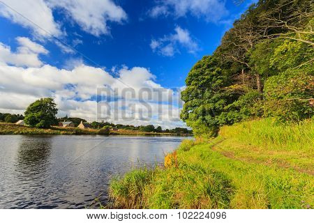 Beautiful Scene Of River Dee - Aberdeenshire Aberdeen Scotland, Uk.