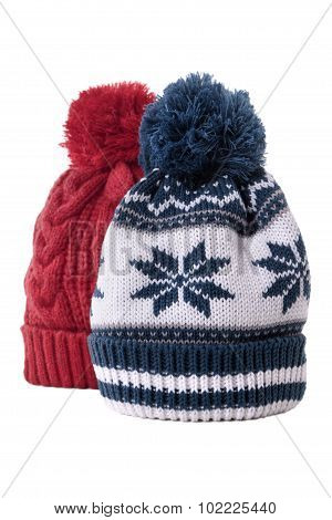 Two Bobble Hats