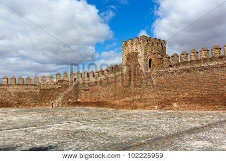 Europe, Portugal, Alentejo - view of Mourao castle in evora district.