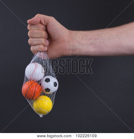 Small Toy Balls Isolated