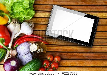 Fresh Vegetables Amd Tablet
