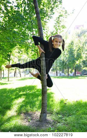 Young Acrobat Outdoor Workout
