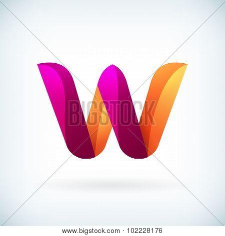 Modern Twisted Letter W