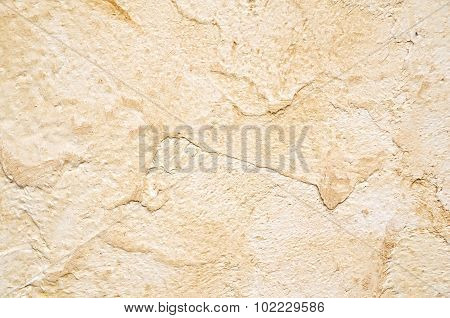 Wall with brown plaster