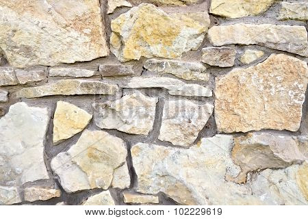 Wall made of sandstone
