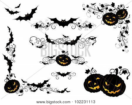 Halloween Vintage Page Decorations And Dividers.