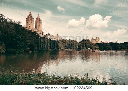Central Park Spring in midtown Manhattan New York City
