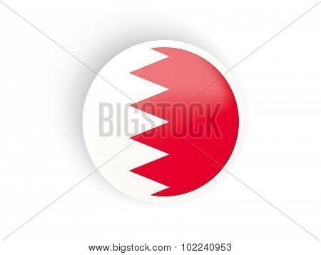 Round Sticker With Flag Of Bahrain