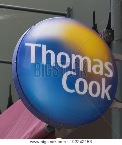 Sign Of Thomas Cook Travel Agency
