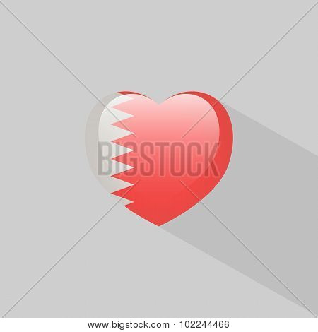 Love Bahrain Symbol With Shadow