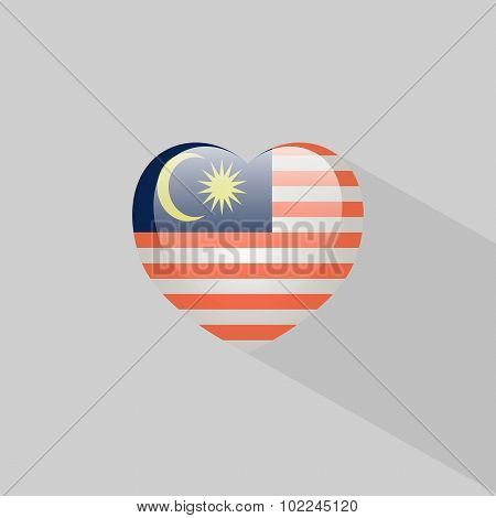 Love Malaysia Symbol With Shadow