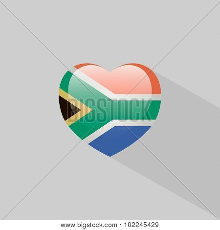 Love South Africa Symbol With Shadow