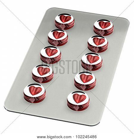 Blister Heart Shape Pills