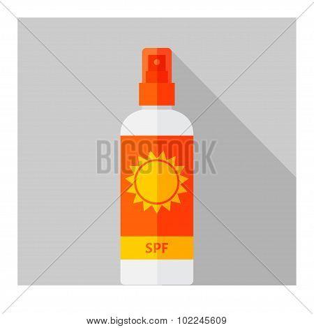 Vector set of flat bottles