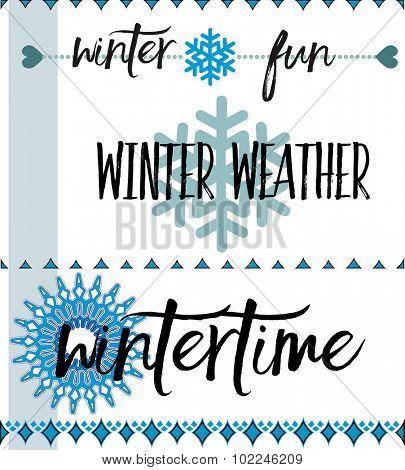 Winter decals