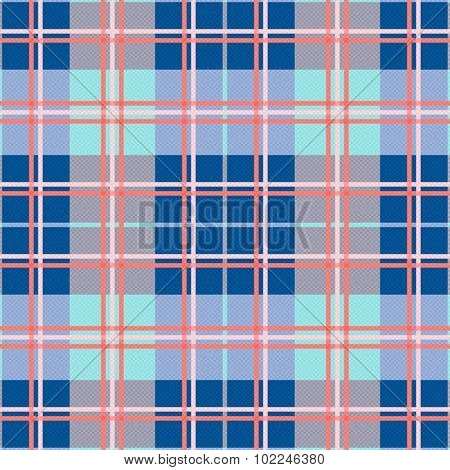 Rectangular Seamless Pattern In Blue And Pink