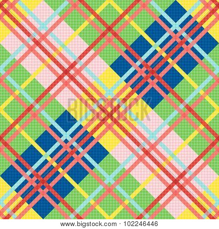 Diagonal Seamless Pattern In Bright Colors