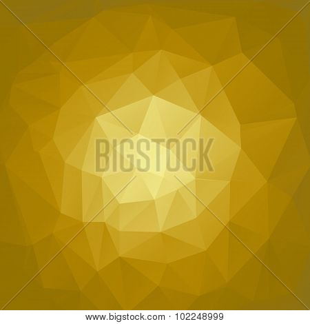 gold polygonal background