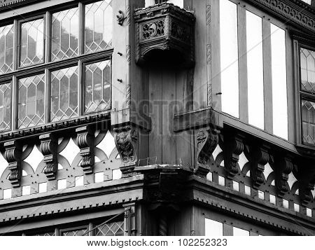 half timbered leaded windows tudor homes chester historic