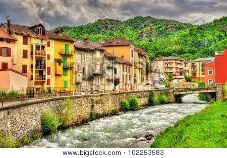 The Oriege River In Ax-les-thermes - France, Midi-pyrenees