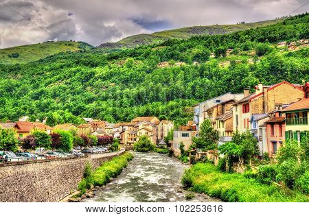 The Ariege River In Ax-les-thermes - France, Midi-pyrenees