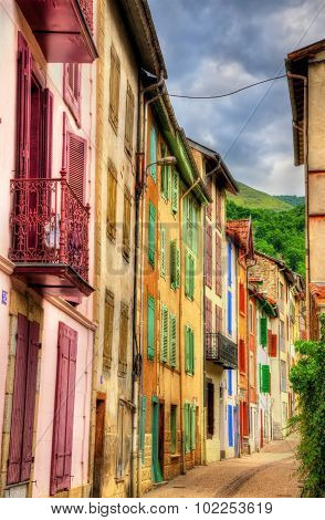 Buildings In Ax-les-thermes, A Town In Pyrenees - France