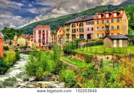 The Lauze River In Ax-les-thermes - France, Midi-pyrenees