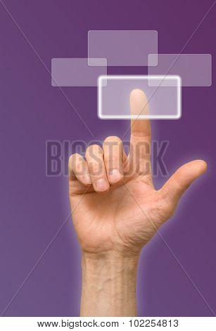 arm press the button, window