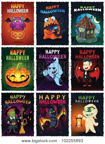 Happy Halloween Illustrations Set