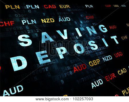 Banking concept: Saving Deposit on Digital background