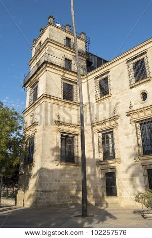 Exterior View Of The Jerez De La Frontera Alcazar