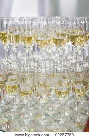 Champaign glasses isolated on white background