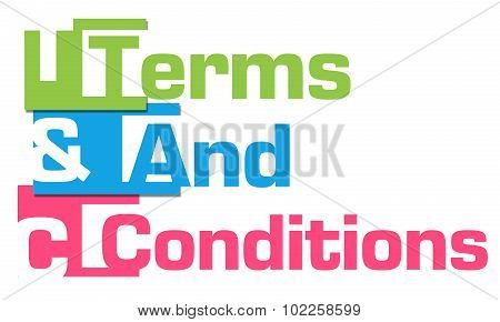 Terms And Conditions Colorful Stripes
