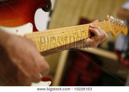 PLaying Electronic guitar
